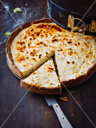 Savoury cheesecake for vegetarians
