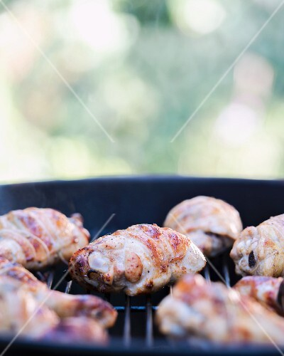 Chicken Drumstick and Thighs on Grill