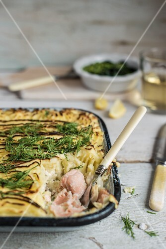 Fish pie with dill