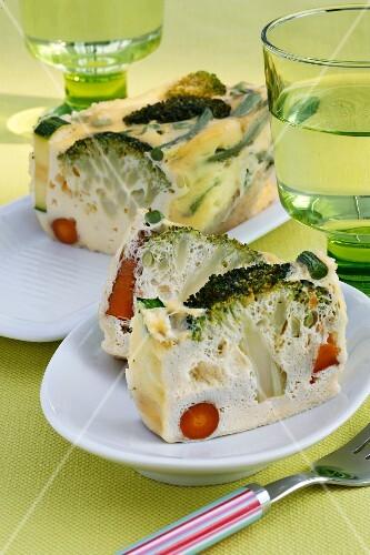 Microwave vegetable terrine