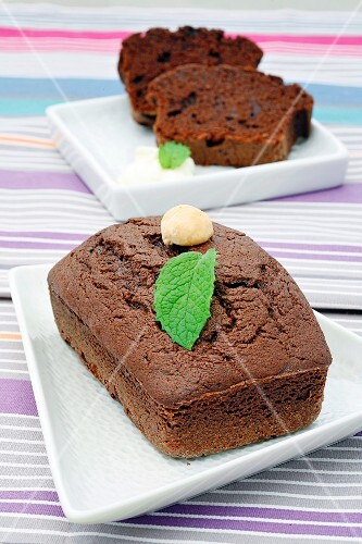 Brownie cakes made in the microwave