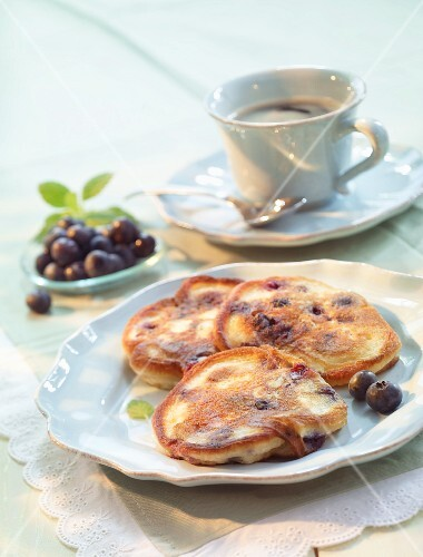 Mini blueberry pancakes