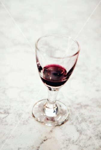 A glass of cassis