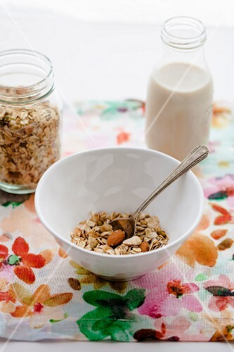 Muesli with coconut and almonds