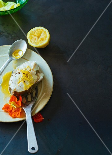 Poached cod with lemons (Paleo)