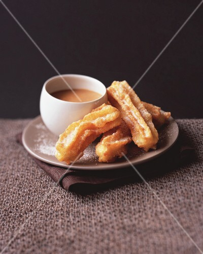 Churros with coconut dulce-de-leche