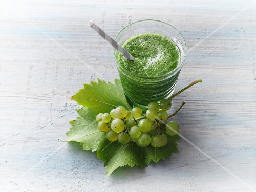 A chard and grape smoothie