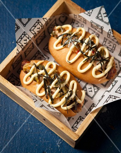 Japanese-style hot dogs