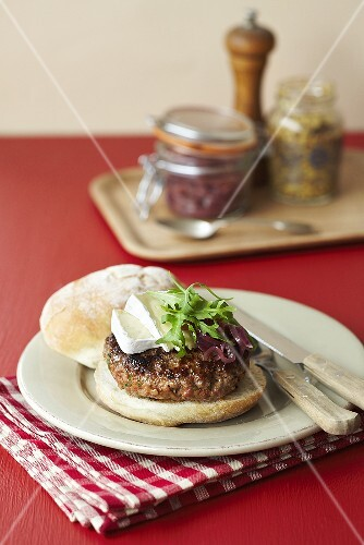 A burger with brie