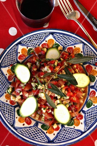 Tomato and courgette salsa