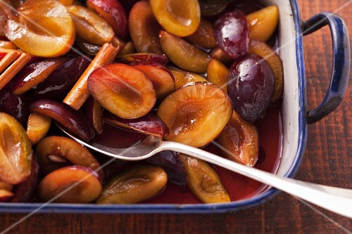 Roasted damsons