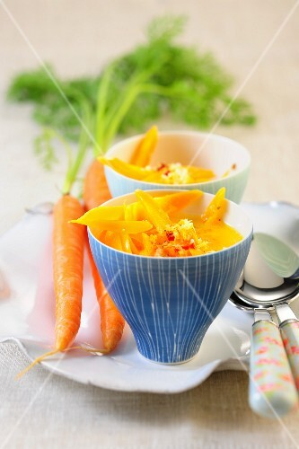 A Thai carrot medley with coconut milk