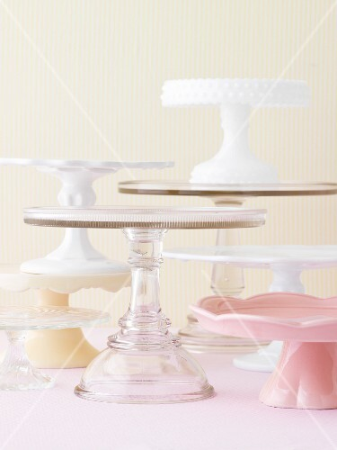 Various cake stands