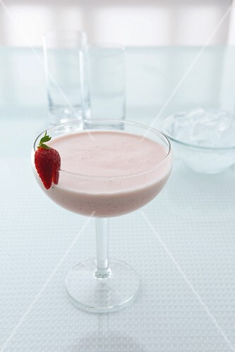 A Strawberry Tremor (a cocktail made with strawberry liqueur)