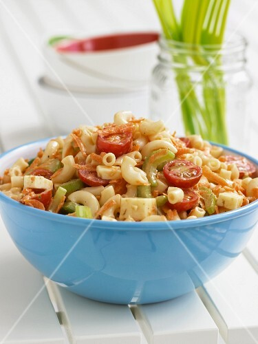 Bowl of Pasta Salad for Summer Picnic