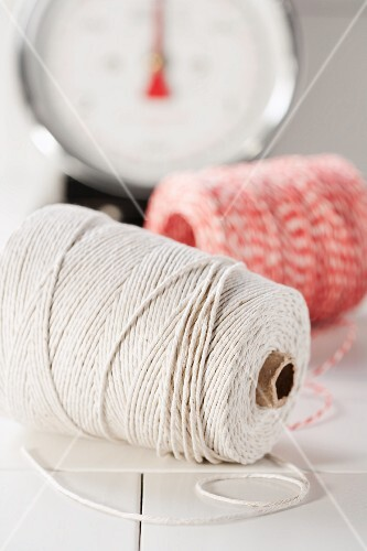 Kitchen twine with scales in background
