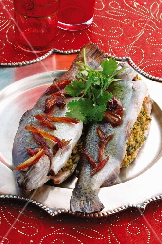 Stuffed trout (Moroccan)