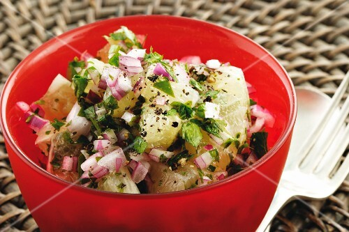 Lemon and onion salad with parsley (Moroccan)