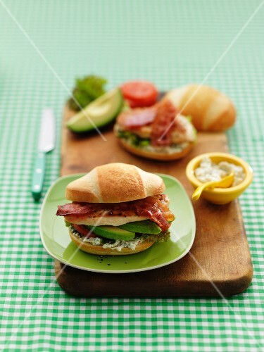Chicken, avocado and bacon sandwich