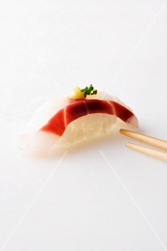 Nigiri sushi with fish