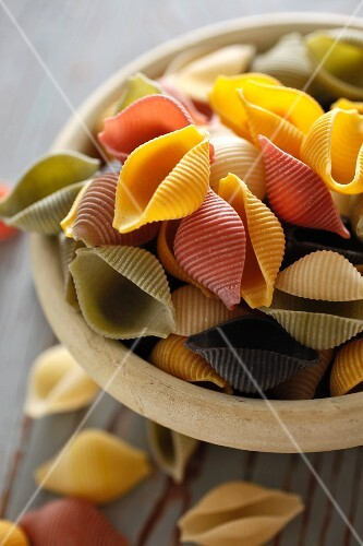 Organic Multi-Colored Shell Pasta