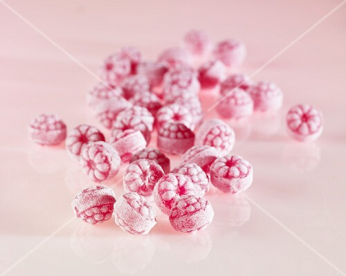 Raspberry boiled sweets