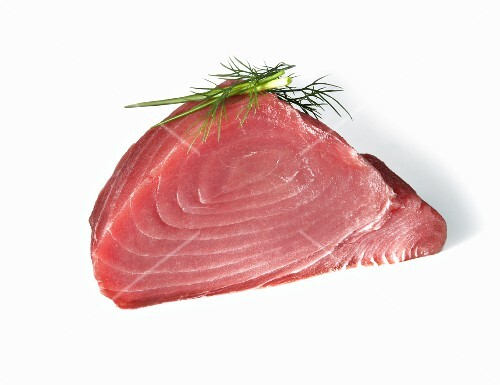 Tuna Steak on a White Background
