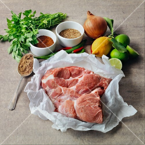 Ingredients for pulled pork