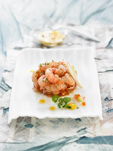 Shrimp timbale