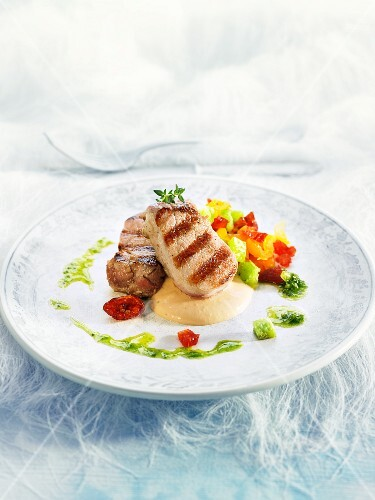 Pork fillet with goose liver