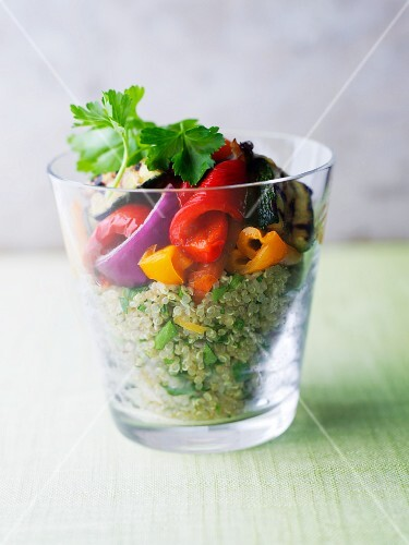 Quinoa salad with peppers