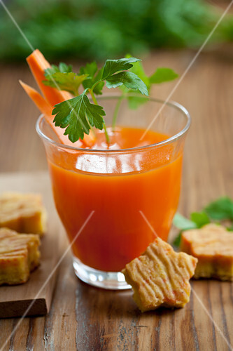 A glass of carrot juice