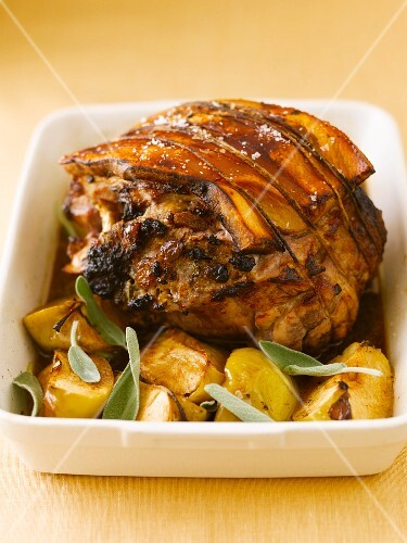 Roast pork with potatoes and sage