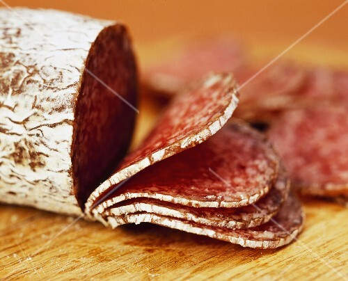 Salami, sliced