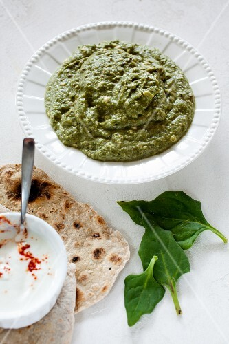 Palak paneer (Indian spinach and cheese dish)