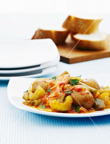 Vegetable stew with potatoes and celery