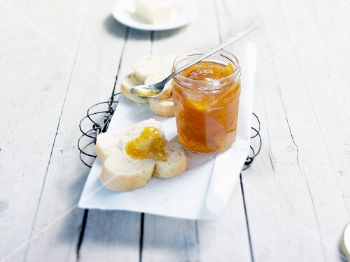Brioche with marmalade