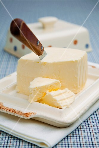 Butter with knife
