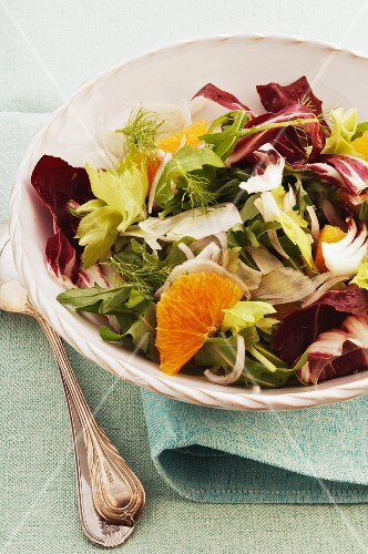 Insalata siciliana (salad with fennel and orange, Italy)