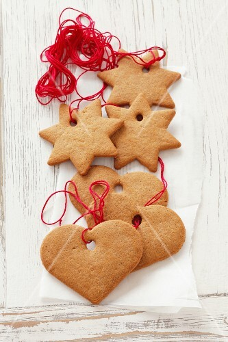 Ginger bread cookies for hanging up