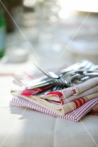 Tea towels and cutlery