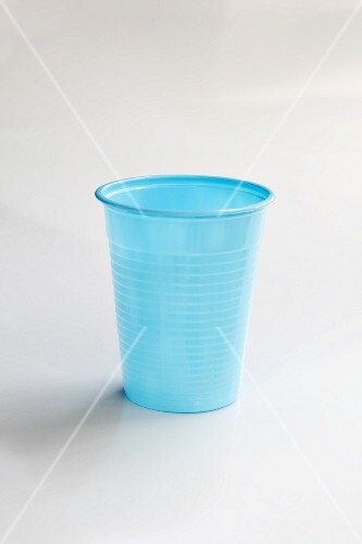 A blue plastic cup