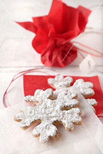 Snowflake biscuits for Christmas