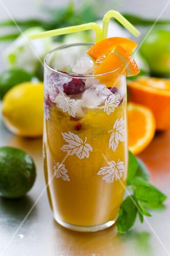 A citrus fruit drink
