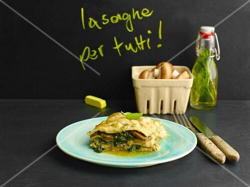 Spinach and basil lasagne