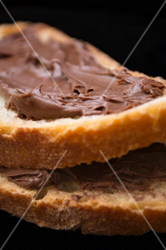 Chocolate spread on bread