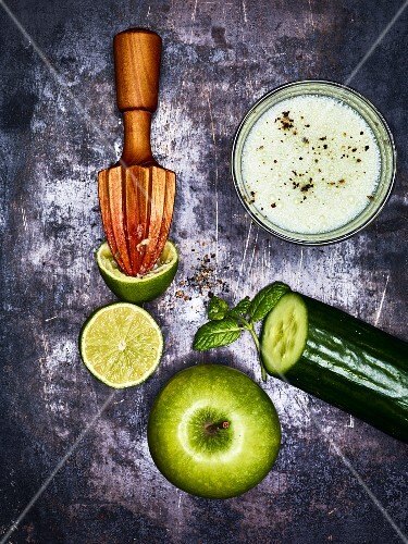Green shooter smoothie