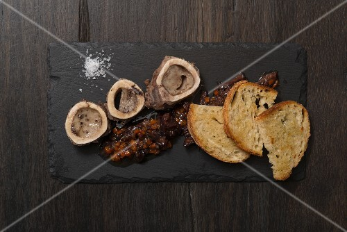 Bone marrow, oxtail confit and crostini