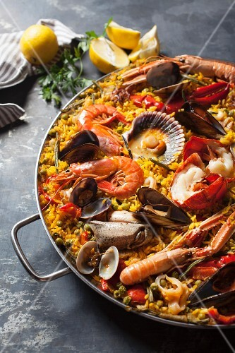Paella with seafood (Spain)
