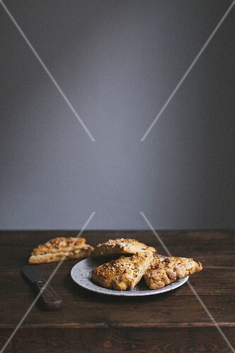 Pear scones on a plate